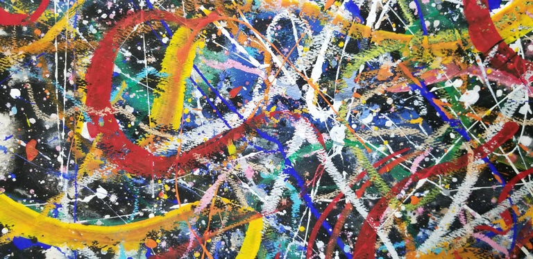 Hendrik Grise Abstract Expressionist Pattern Painting In Good Condition For Sale In Fulton, CA