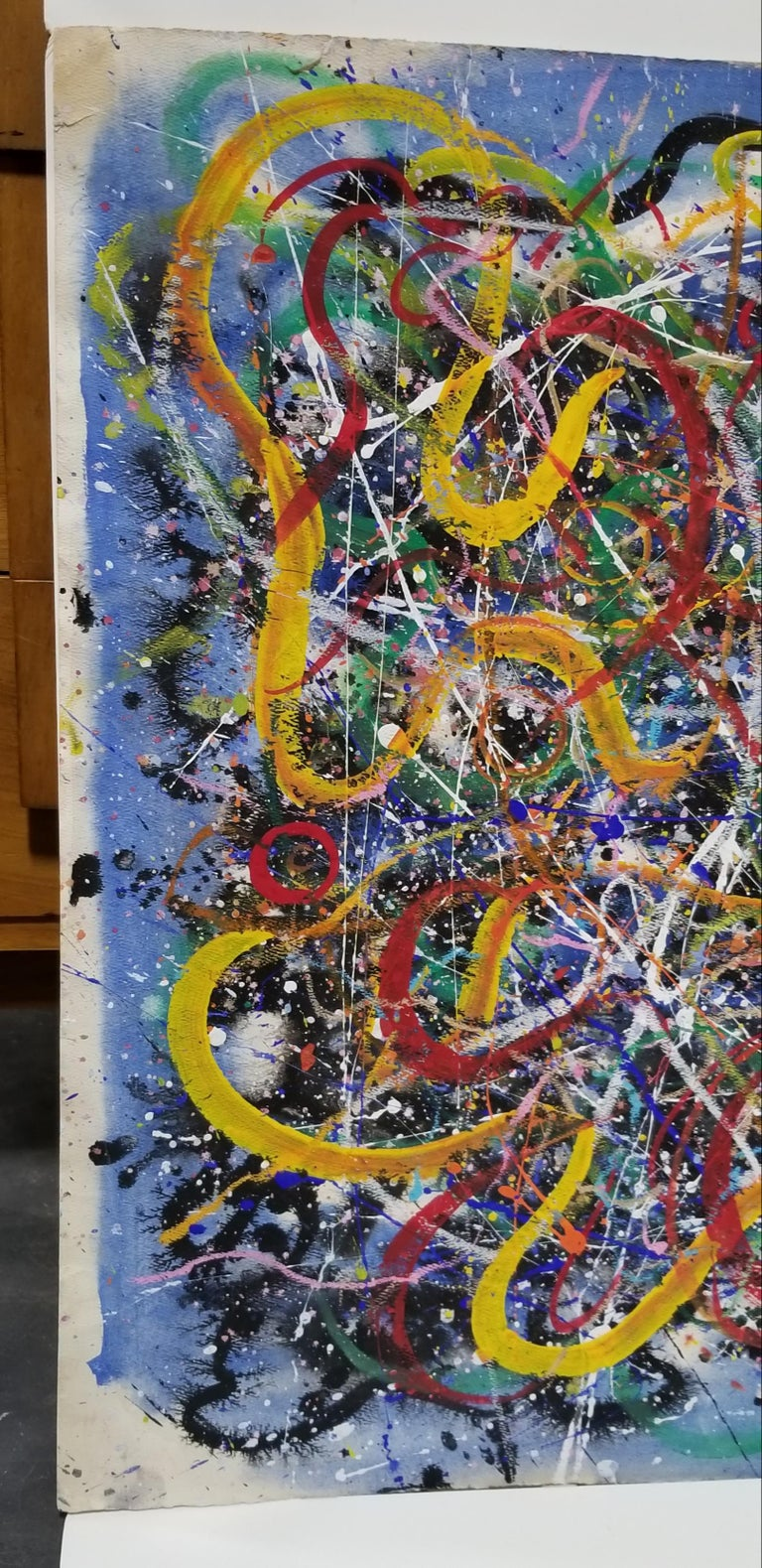 20th Century Hendrik Grise Abstract Expressionist Pattern Painting For Sale