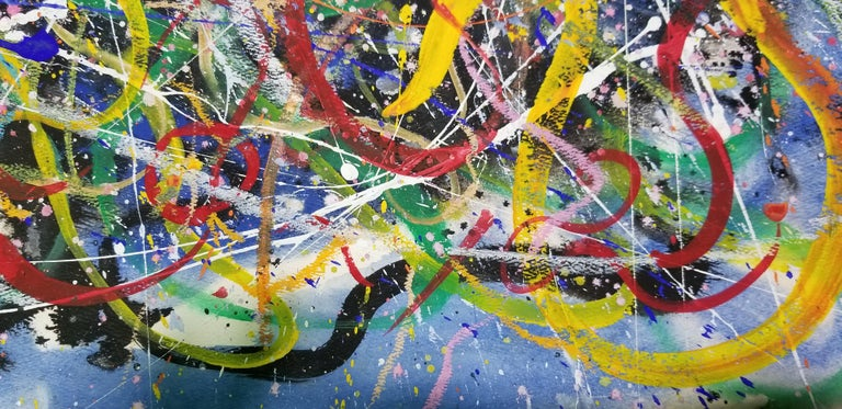 Hendrik Grise Abstract Expressionist Pattern Painting For Sale 7