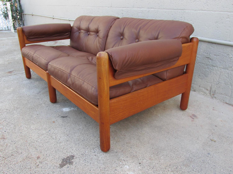 Living Room Modern Sofa For Sale a mikael laursen teak and leather danish modern sofa for sale at 1stdibs