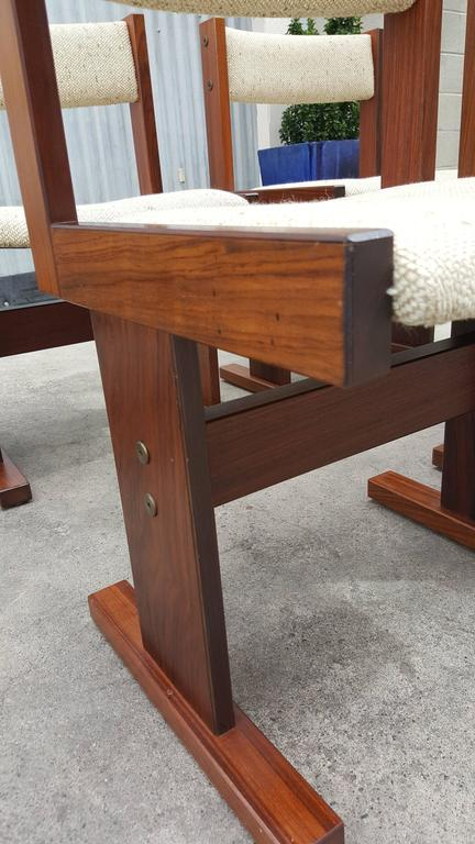 Set Of Six Rosewood Danish Modern Dining Chairs By Gangso