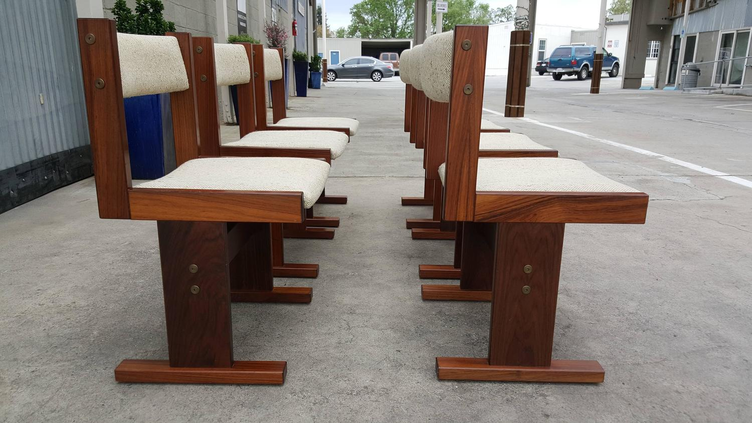 Set of Six Rosewood Danish Modern Dining Chairs by Gangso Mobler For Sale at 1stdibs