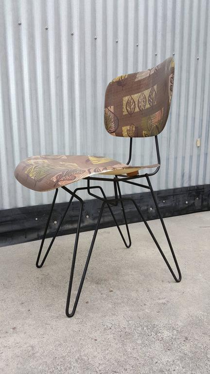 Hobart Wells Iron Hairpin And Formed Fiberglass Lounge