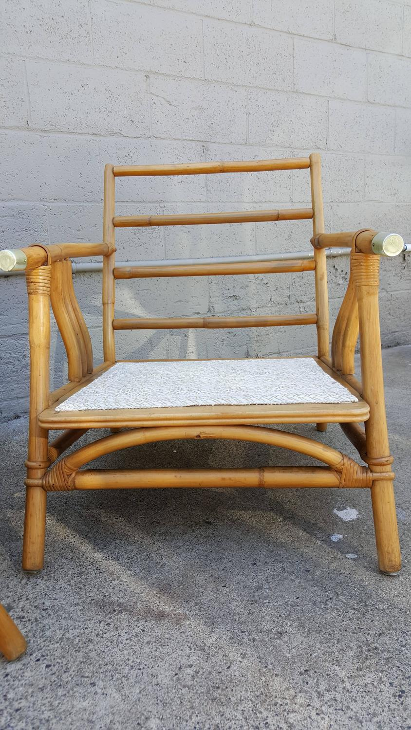 Ficks Reed Rattan Lounge Chairs at 1stdibs