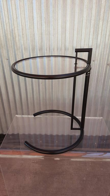 Eileen gray black steel adjustable end table for sale at 1stdibs - Eileen gray table original ...