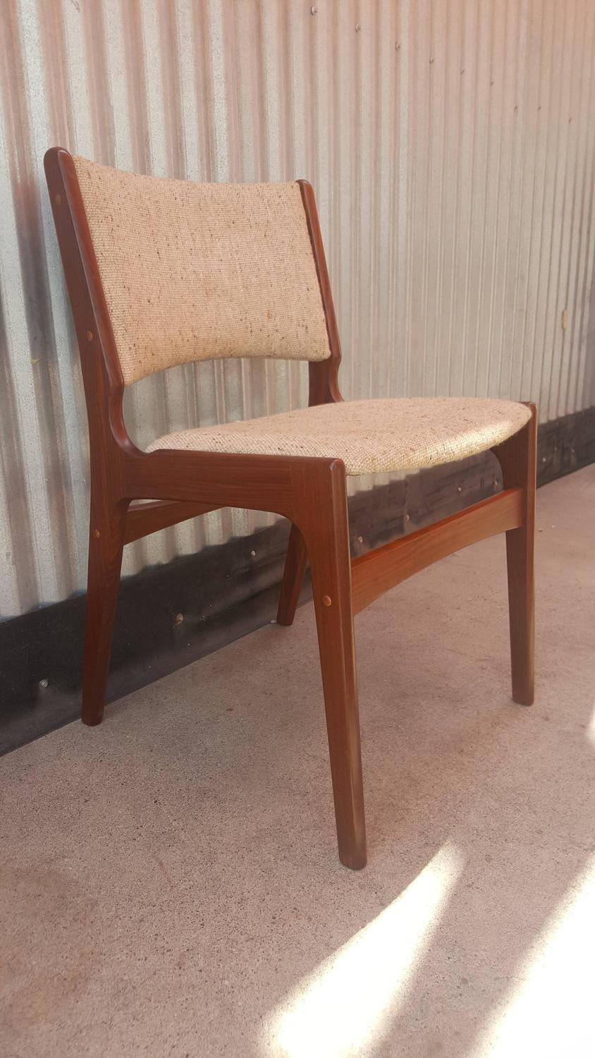 Set Six Danish Modern Rosewood Dining Chairs For Sale At
