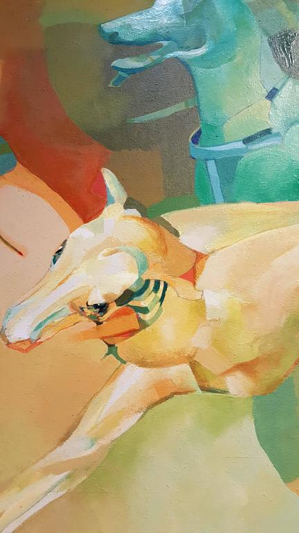 20th Century Dogs Abstract Surrealist Paintings For Sale