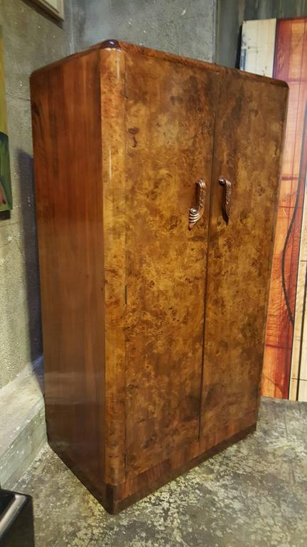 Burl Walnut Fitted Butlers Cabinet By Palatial Furniture