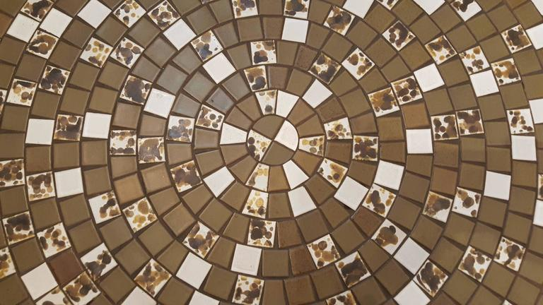 Mid-Century Modern Martz Mosaic Tile Coffee Table For Sale