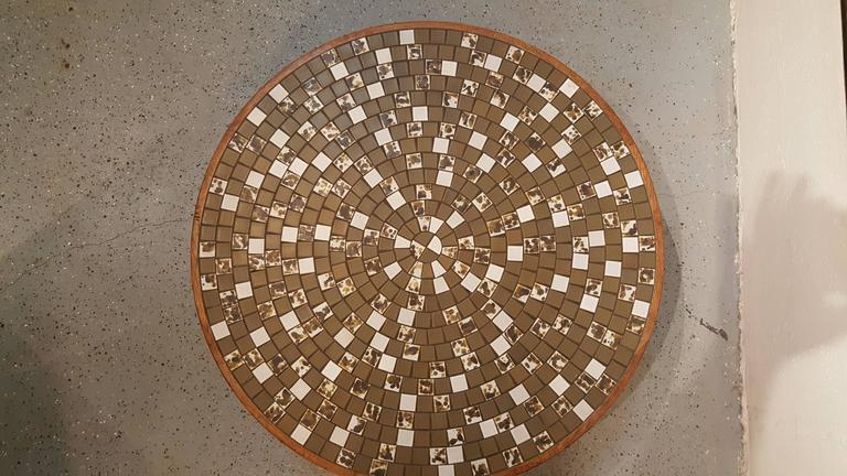 American Martz Mosaic Tile Coffee Table For Sale
