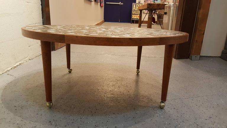 Martz Mosaic Tile Coffee Table In Good Condition For Sale In Fulton, CA