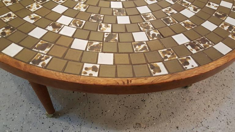 Mid-20th Century Martz Mosaic Tile Coffee Table For Sale