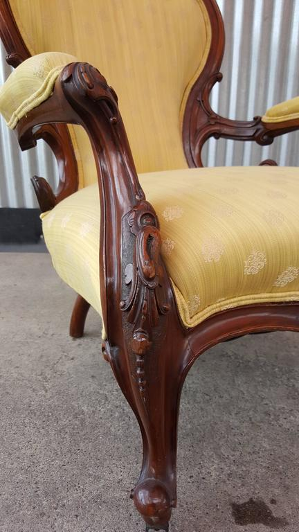 19th century hand carved victorian parlor chair for sale at 1stdibs