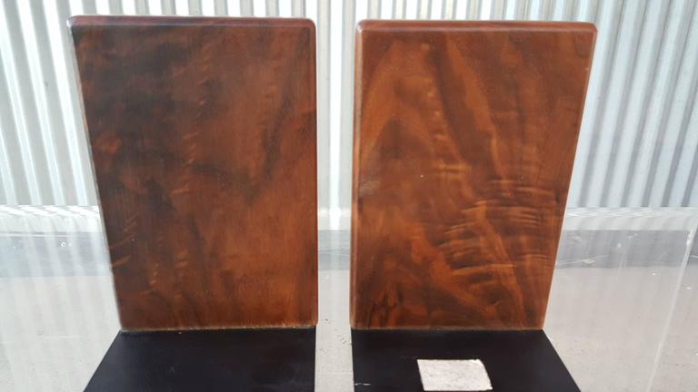 Gordon Martz Walnut and Tile Bookends In Excellent Condition For Sale In Fulton, CA