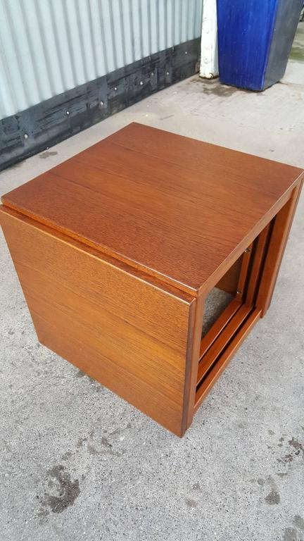 Kai Kristiansen Cube Nesting End Or Coffee Table For Sale At 1stdibs