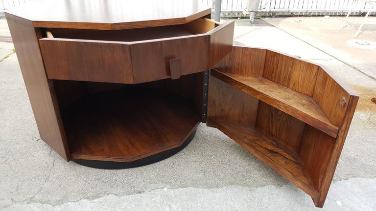 Harvey Probber Dry Bar or End Table in Rosewood 2