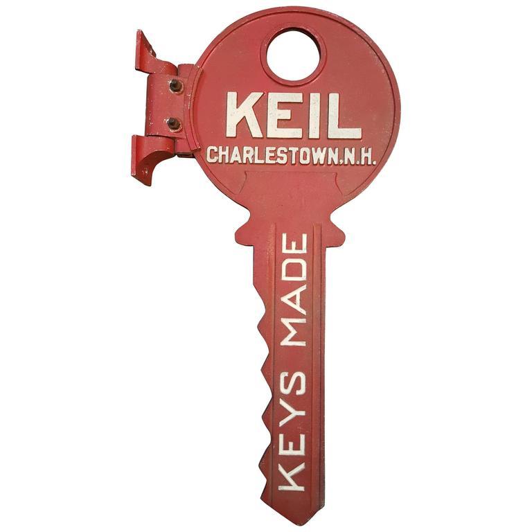 Key Form Cast Aluminum Locksmith Trade Sign