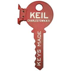 Key Form Cast Aluminum Locksmith Trade Sign