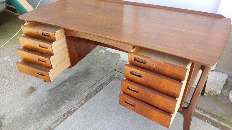 Danish Modern Rosewood Desk by Svend Madsen 7