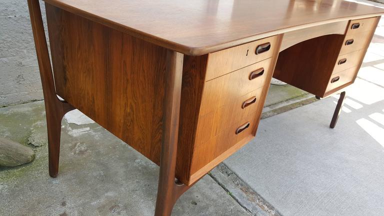 Danish Modern Rosewood Desk by Svend Madsen 9