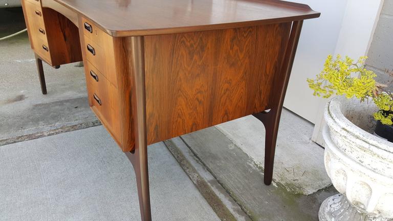 Danish Modern Rosewood Desk by Svend Madsen 10