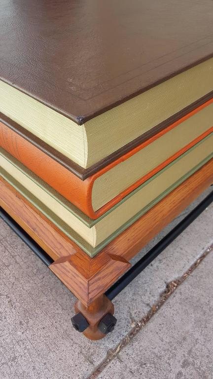 John Dickinson Stacked Books End Table For Sale 2