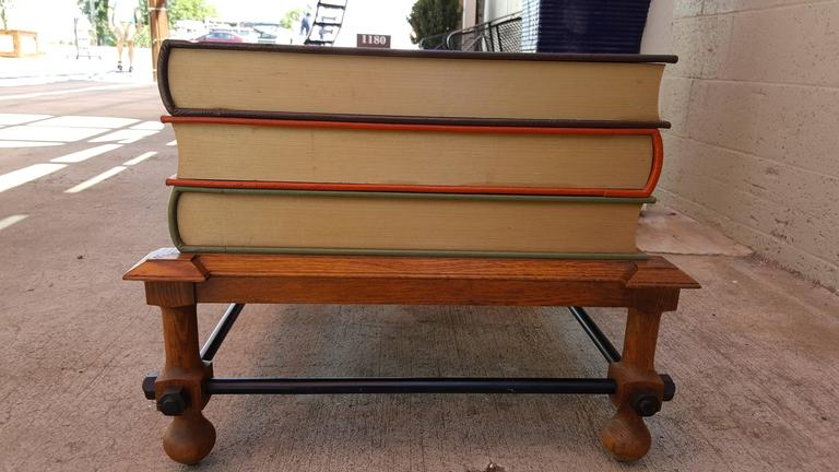John Dickinson Stacked Books End Table In Good Condition For Sale In Fulton, CA