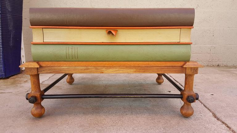 20th Century John Dickinson Stacked Books End Table For Sale
