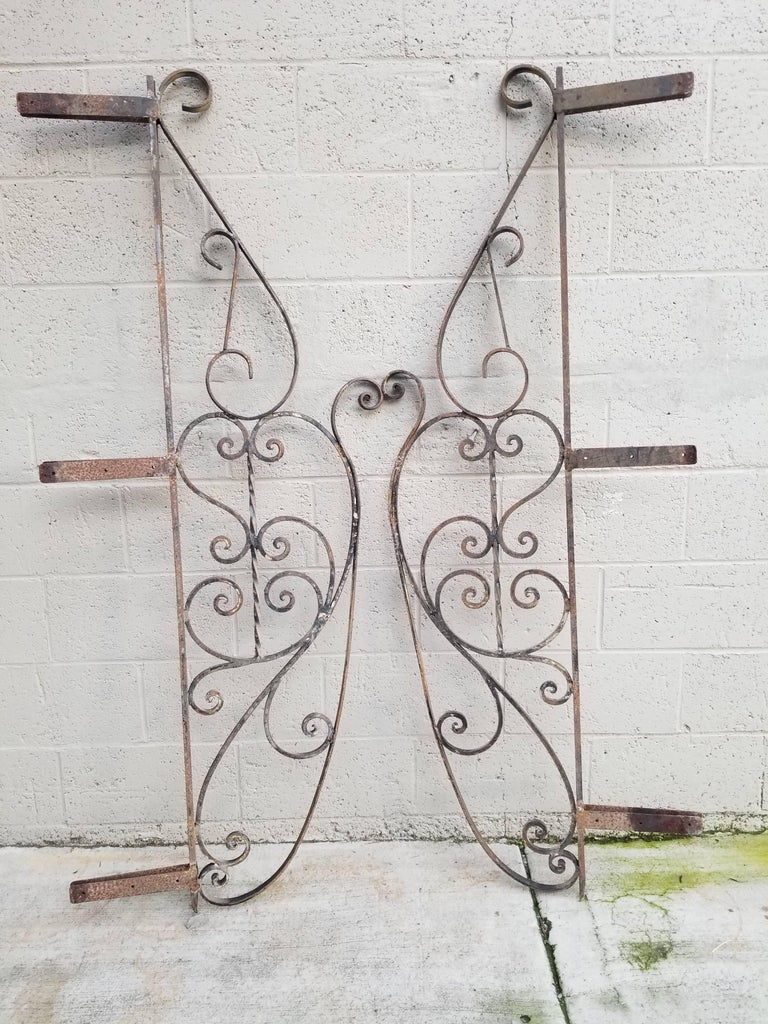 Architectural Wrought Iron Panels, Pieces For Sale 5