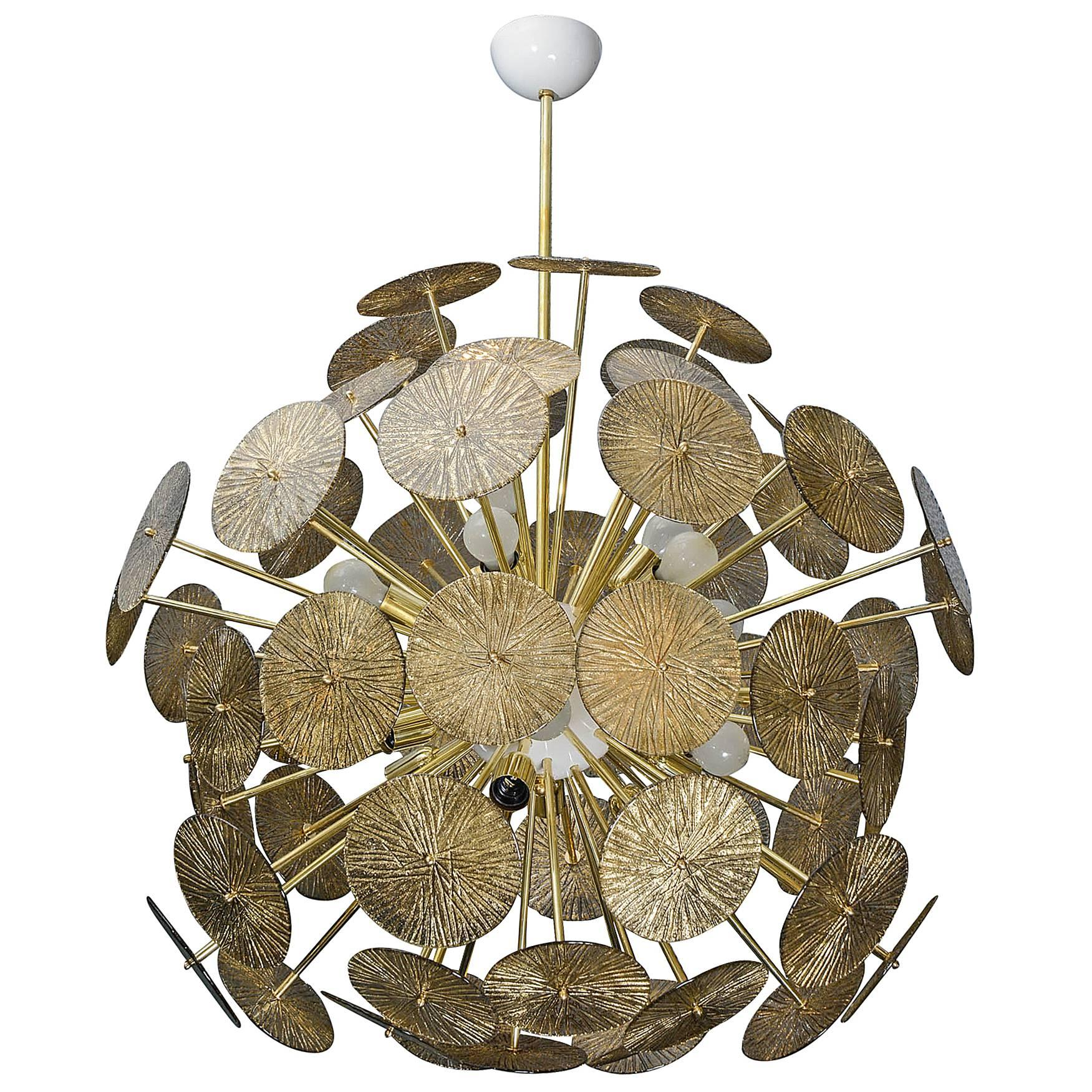 """Fantastic """"Sputnik"""" Style Murano Chandelier"""