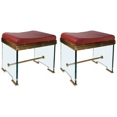 Important Pair of Stools in the Manner of Fontana Arté