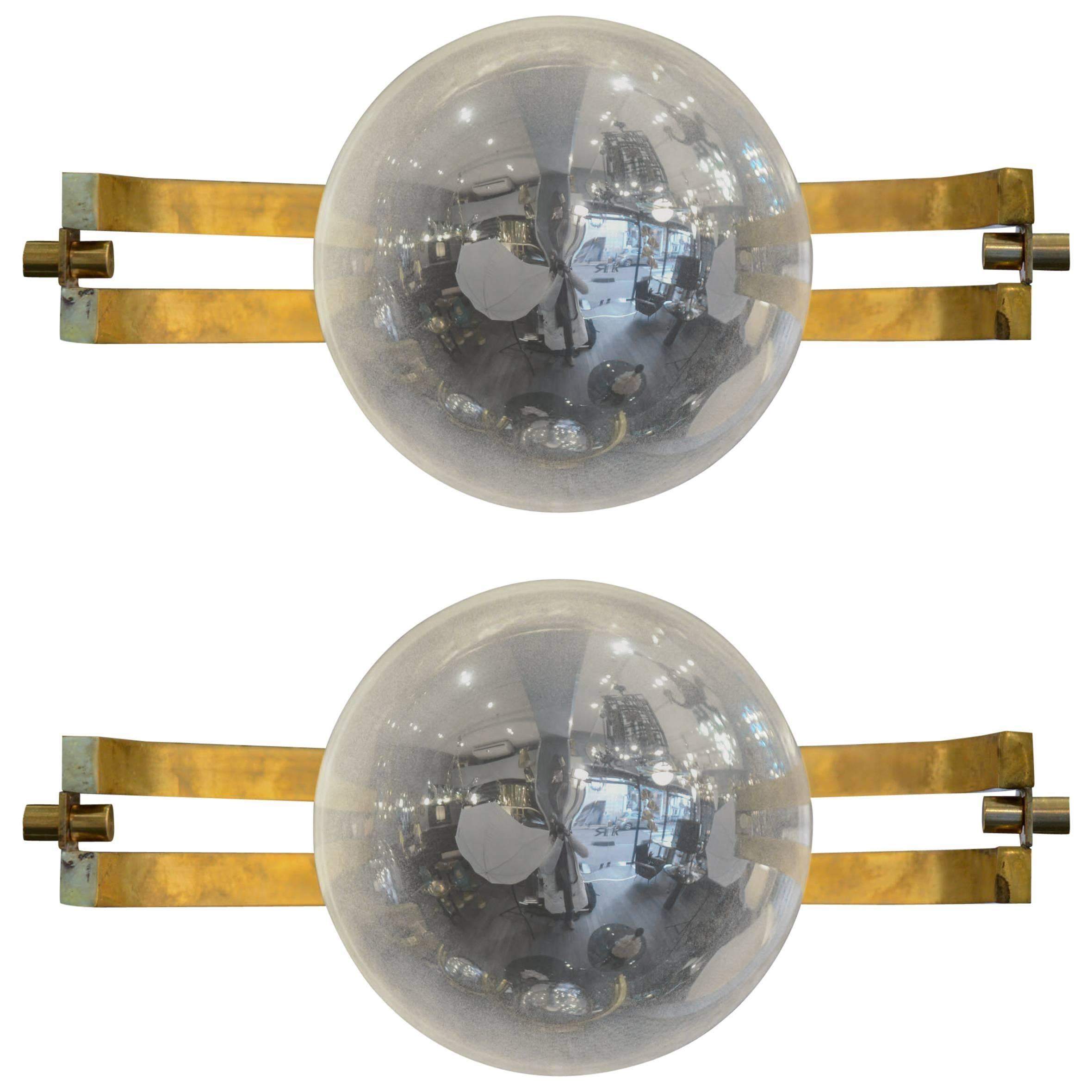 """Pair of """"Space Age"""" Sconces"""
