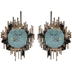 Pair of Sculptural Sconces Designed by Régis Royant