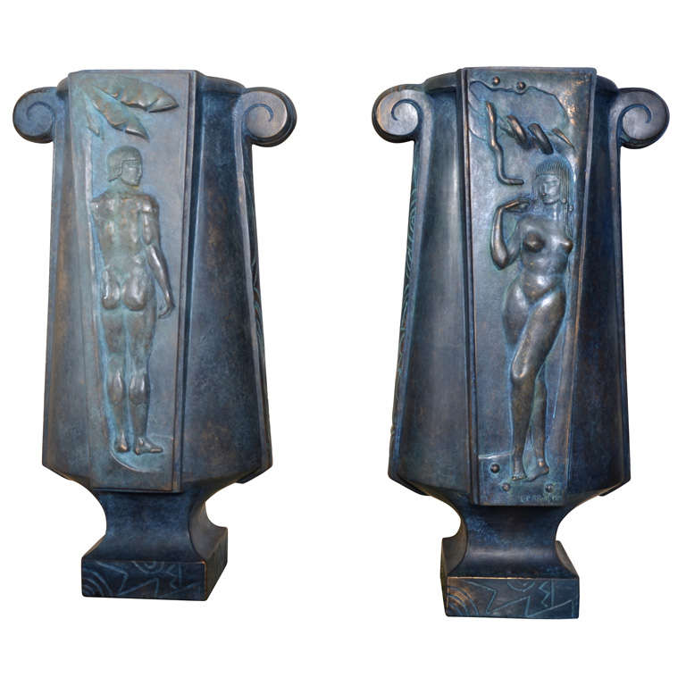 Huge and Fantastic Art Deco Lamps For Sale