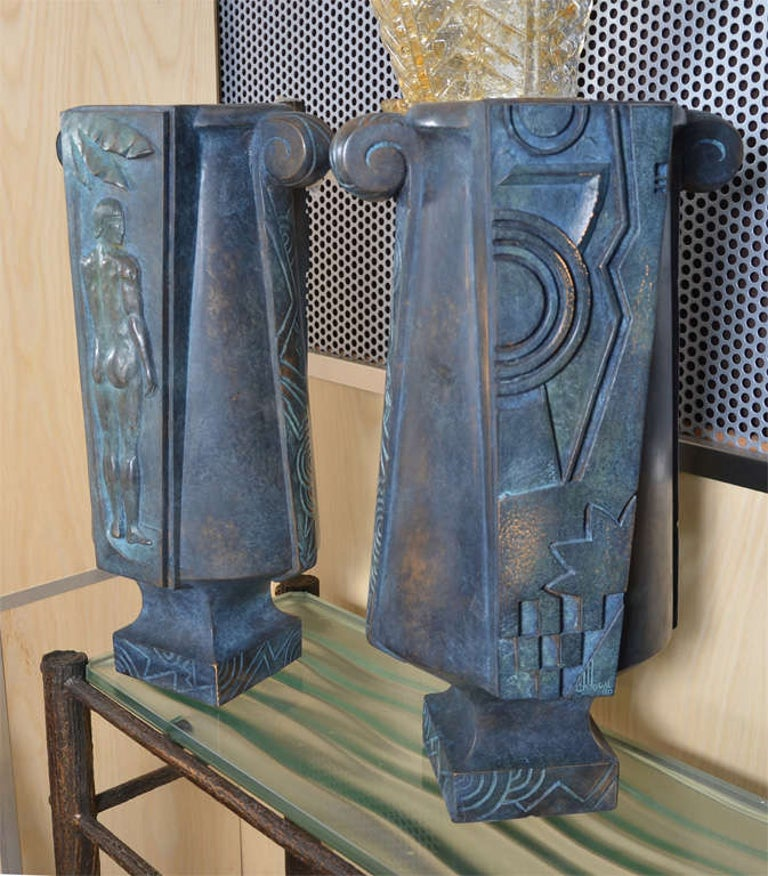 Huge and Fantastic Art Deco Lamps In Excellent Condition For Sale In Bois-Colombes, FR