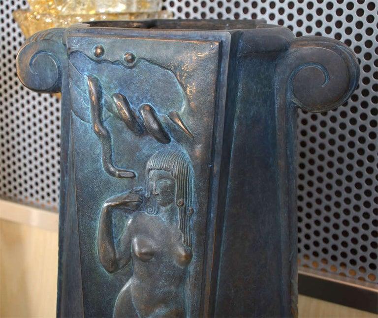 Bronze Huge and Fantastic Art Deco Lamps For Sale