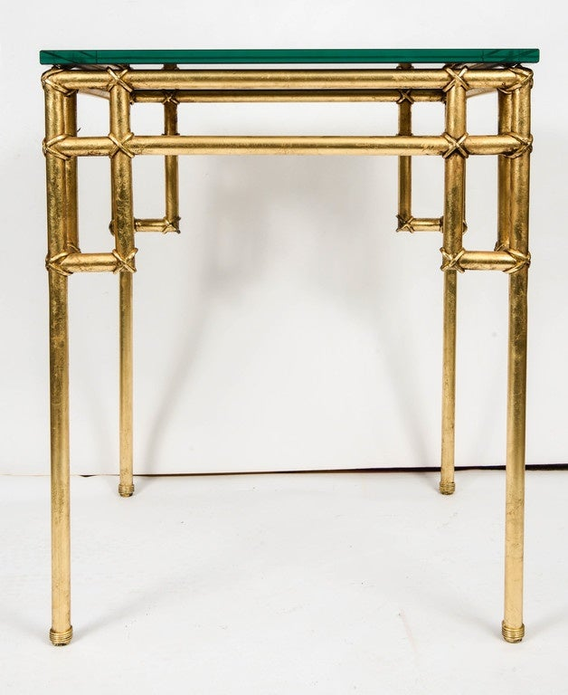 Pair of Side Tables in the Style of Baguès In Excellent Condition For Sale In Paris Saint Ouen, FR