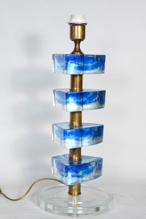 Murano Glass Table Lamps In Excellent Condition For Sale In Paris Saint Ouen, FR