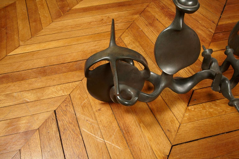 1970s Solid Bronze Sculpture by Victor Roman For Sale 1