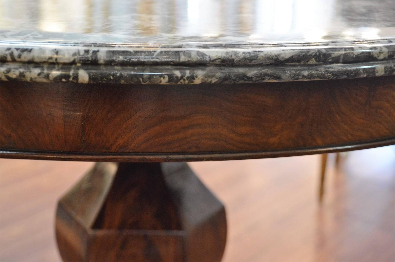 Louis philippe period mahogany center table at 1stdibs for Table ronde louis philippe