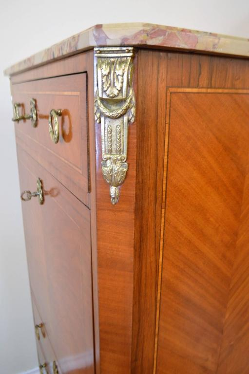 louis xv style inlay secretaire for sale at 1stdibs. Black Bedroom Furniture Sets. Home Design Ideas