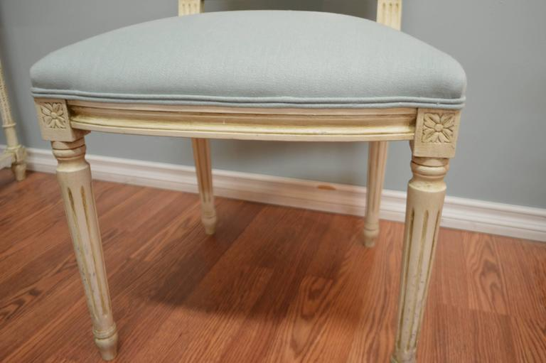 Louis XVI Style Square Back Dining Chair for Custom Order In Excellent Condition For Sale In Oakville, ON