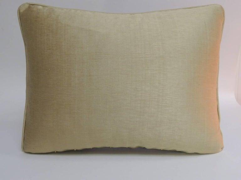 Moorish 18th Century Persian Metallic Threads Embroidered Decorative Pillow For Sale