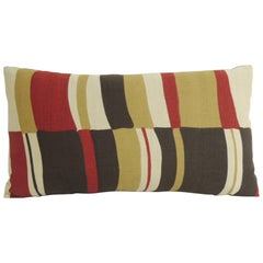 Mid-Century Modern Colorful Bolster Vintage Decorative Pillow