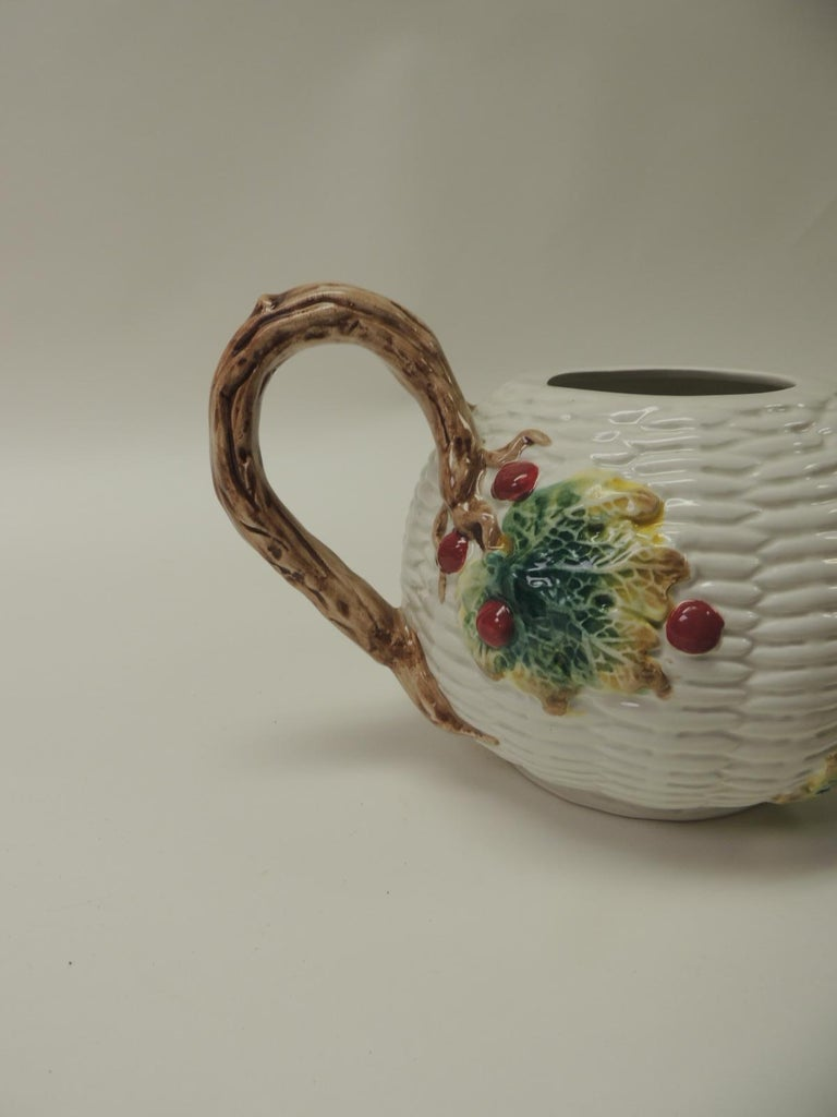 American Fitz and Floyd White Bone China Harvest Tea Pot For Sale