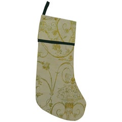 Artisanal Green Holiday Gift Stocking Double Sided