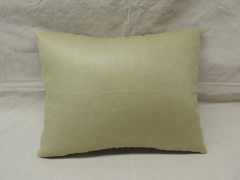 Italian Needlework Tapestry Bolster Pillow For Sale At 1stdibs