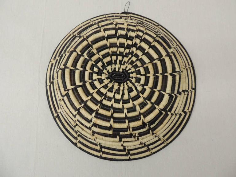 Round Brown and Natural Tribal African Basket For Sale at ...