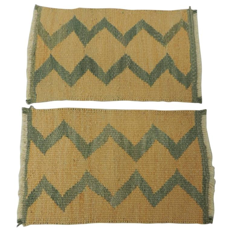 Pair of Vintage Southwestern Woven Samplers