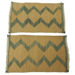 Pair of Vintage Southwestern Style Woven Samplers